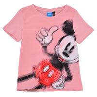 tekstylia Dziewczynka T-shirty z krótkim rękawem Desigual 21SGTK43-3013 Różowy