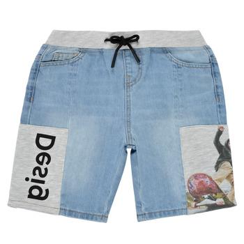 tekstylia Chłopiec Szorty i Bermudy Desigual 21SBDD02-5053 Niebieski