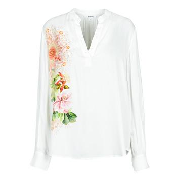 tekstylia Damskie Koszule Desigual TIGRIS Biały