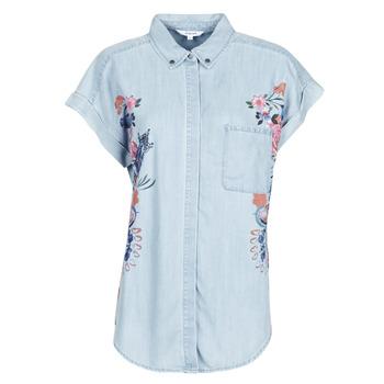 tekstylia Damskie Koszule Desigual SULLIVAN Niebieski