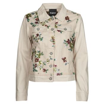 tekstylia Damskie Kurtki jeansowe Desigual BRILLIGRIN Różowy