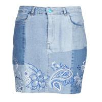 tekstylia Damskie Spódnice Desigual BE BLUE Niebieski