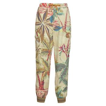 tekstylia Damskie Spodnie z lejącej tkaniny / Alladynki Desigual TOUCHE Beżowy