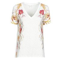 tekstylia Damskie T-shirty z krótkim rękawem Desigual PRAGA Biały
