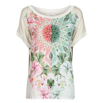 tekstylia Damskie T-shirty z krótkim rękawem Desigual COPENHAGUE Biały