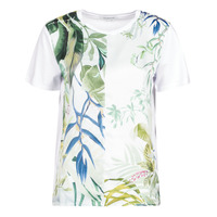 tekstylia Damskie T-shirty z krótkim rękawem Desigual BUDAPEST Biały