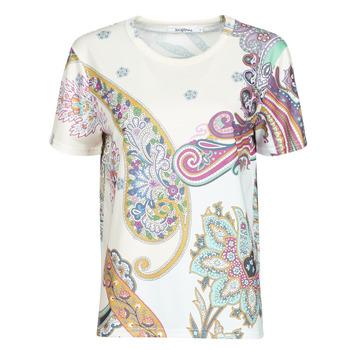tekstylia Damskie T-shirty z krótkim rękawem Desigual POPASLEY Biały