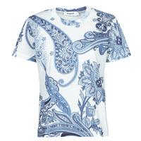 tekstylia Damskie T-shirty z krótkim rękawem Desigual POPASLEY Niebieski