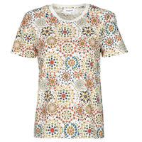 tekstylia Damskie T-shirty z krótkim rękawem Desigual LYON Biały