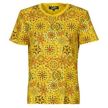 tekstylia Damskie T-shirty z krótkim rękawem Desigual LYON Żółty