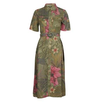 tekstylia Damskie Sukienki długie Desigual ANGELA Kaki