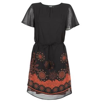 tekstylia Damskie Sukienki krótkie Desigual TAMPA Czarny