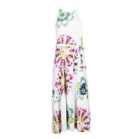 tekstylia Damskie Sukienki długie Desigual SENA Biały