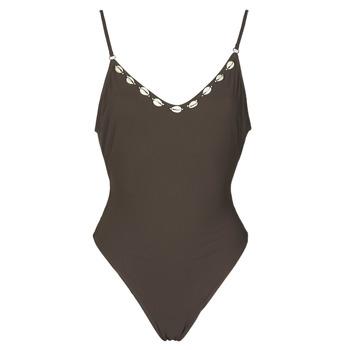 tekstylia Damskie Kostium kąpielowy jednoczęściowy Banana Moon LAUMI Brązowy