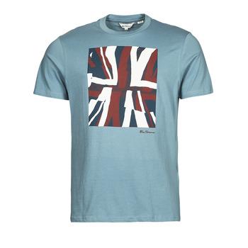 tekstylia Męskie T-shirty z krótkim rękawem Ben Sherman HALF TONE FLEG TEE Niebieski