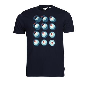 tekstylia Męskie T-shirty z krótkim rękawem Ben Sherman TARGET CONSTRUCTION Marine