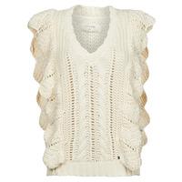 tekstylia Damskie Swetry Cream ANNOLINA KNIT SLOPOVER Biały