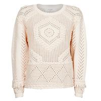 tekstylia Damskie Swetry Cream CELESTE KNIT Beżowy