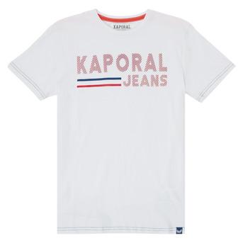 tekstylia Chłopiec T-shirty z krótkim rękawem Kaporal EZIO Biały