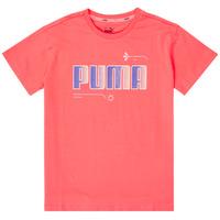 tekstylia Dziewczynka T-shirty z krótkim rękawem Puma ALPHA TEE Różowy