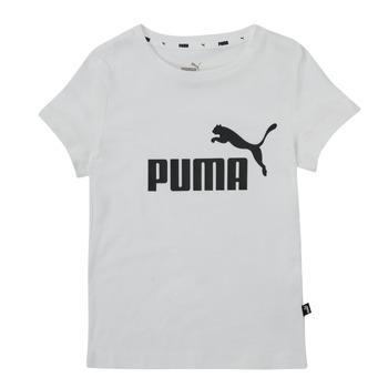 tekstylia Dziewczynka T-shirty z krótkim rękawem Puma ESS TEE Biały
