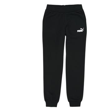 tekstylia Dziewczynka Spodnie dresowe Puma ESS SWEATPANT Czarny