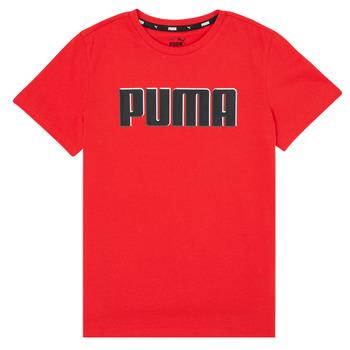 tekstylia Chłopiec T-shirty z krótkim rękawem Puma ALPHA GRAF TEE Czerwony