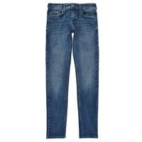tekstylia Chłopiec Jeansy skinny Pepe jeans FINLY Niebieski