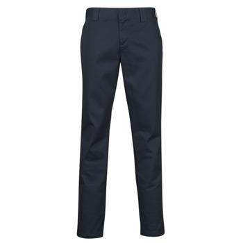 tekstylia Męskie Spodnie z pięcioma kieszeniami Dickies SLIM FIT WORK PNT Marine