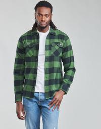tekstylia Męskie Koszule z długim rękawem Dickies NEW SACRAMENTO SHIRT PINE GREEN Kaki / Czarny