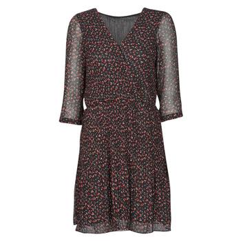tekstylia Damskie Sukienki krótkie Moony Mood NOULINE Czarny / Czerwony