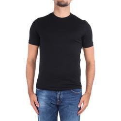 tekstylia Męskie T-shirty z krótkim rękawem Cruciani CUJOSB G30 Czarny