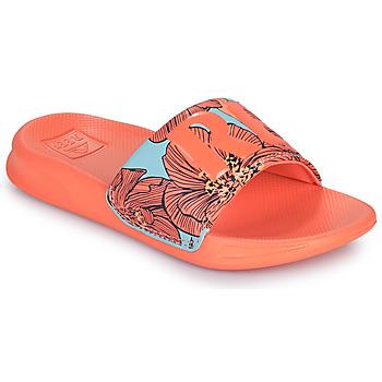 Buty Dziewczynka klapki Reef KIDS ONE SLIDE Pomarańczowy