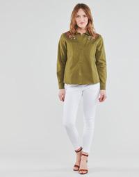tekstylia Damskie Spodnie z pięcioma kieszeniami Freeman T.Porter ALEXA CROPPED S-SDM Biały