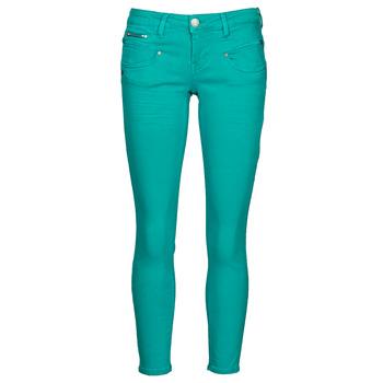 tekstylia Damskie Spodnie z pięcioma kieszeniami Freeman T.Porter ALEXA CROPPED NEW MAGIC COLOR Viridian / Zielony