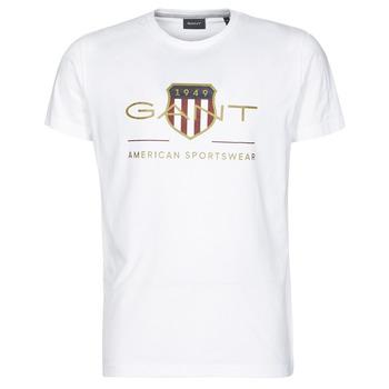 tekstylia Męskie T-shirty z krótkim rękawem Gant ARCHIVE SHIELD Biały
