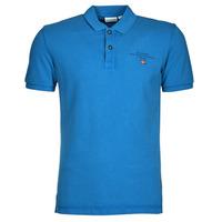 tekstylia Męskie Koszulki polo z krótkim rękawem Napapijri ELBAS 4 Niebieski