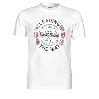 tekstylia Męskie T-shirty z krótkim rękawem Napapijri SALYA Biały