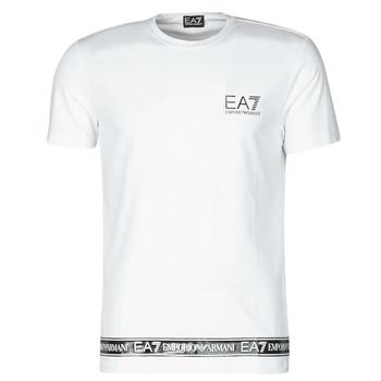 tekstylia Męskie T-shirty z krótkim rękawem Emporio Armani EA7 3KPT05-PJ03Z-1100 Biały