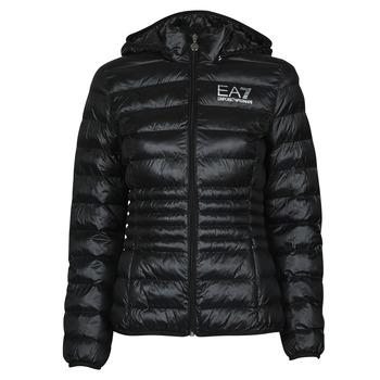 tekstylia Damskie Kurtki pikowane Emporio Armani EA7 8NTB23-TN12Z-1200 Czarny