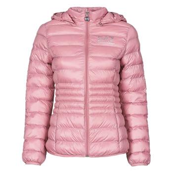 tekstylia Damskie Kurtki pikowane Emporio Armani EA7 8NTB23-TN12Z-1436 Różowy