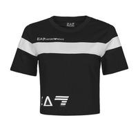 tekstylia Damskie T-shirty z krótkim rękawem Emporio Armani EA7 3KTT05-TJ9ZZ-1200 Czarny / Biały