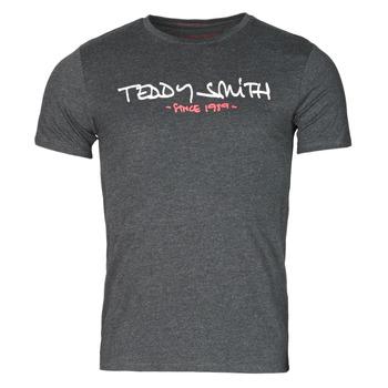 tekstylia Męskie T-shirty z krótkim rękawem Teddy Smith TICLASS Szary / Fonce