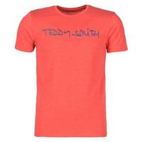 tekstylia Męskie T-shirty z krótkim rękawem Teddy Smith TICLASS Czerwony