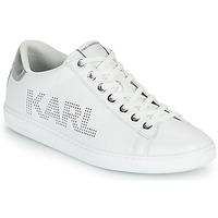 Buty Damskie Trampki niskie Karl Lagerfeld KUPSOLE II KARL PUNKT LOGO LO Biały