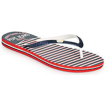 Buty Damskie Japonki Pepe jeans RAKE SAILOR Niebieski / Biały / Czerwony