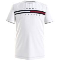 tekstylia Chłopiec T-shirty z krótkim rękawem Tommy Hilfiger KB0KB06532-YBR Biały
