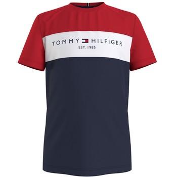 tekstylia Chłopiec T-shirty z krótkim rękawem Tommy Hilfiger KB0KB06534-C87 Wielokolorowy