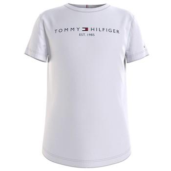 tekstylia Dziewczynka T-shirty z krótkim rękawem Tommy Hilfiger KG0KG05242-YBR Biały