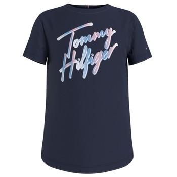 tekstylia Dziewczynka T-shirty z krótkim rękawem Tommy Hilfiger KG0KG05870-C87 Marine